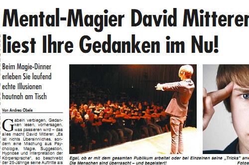 Wochenblatt Interview Dinner